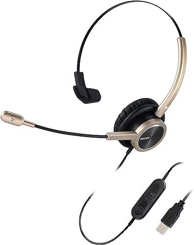 MAIRDI USB Telephone Headset with Microphone