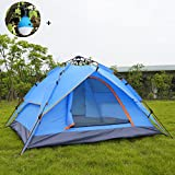 (Upgrade) 2-3 Person Instant Camping Tent,Rainbows Houses 4 Season Waterproof Double Layer Backpacking Tent Hiking Fishing Outdoor,Pop-up Family Tent/ Sun Shelter for Beach Summer Travel