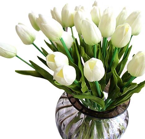 Mazzo Di Fiori Tulipani Costo.Bouquet Di Tulipani Gkongu Mazzo Di 10 Pezzi Realistico Latex