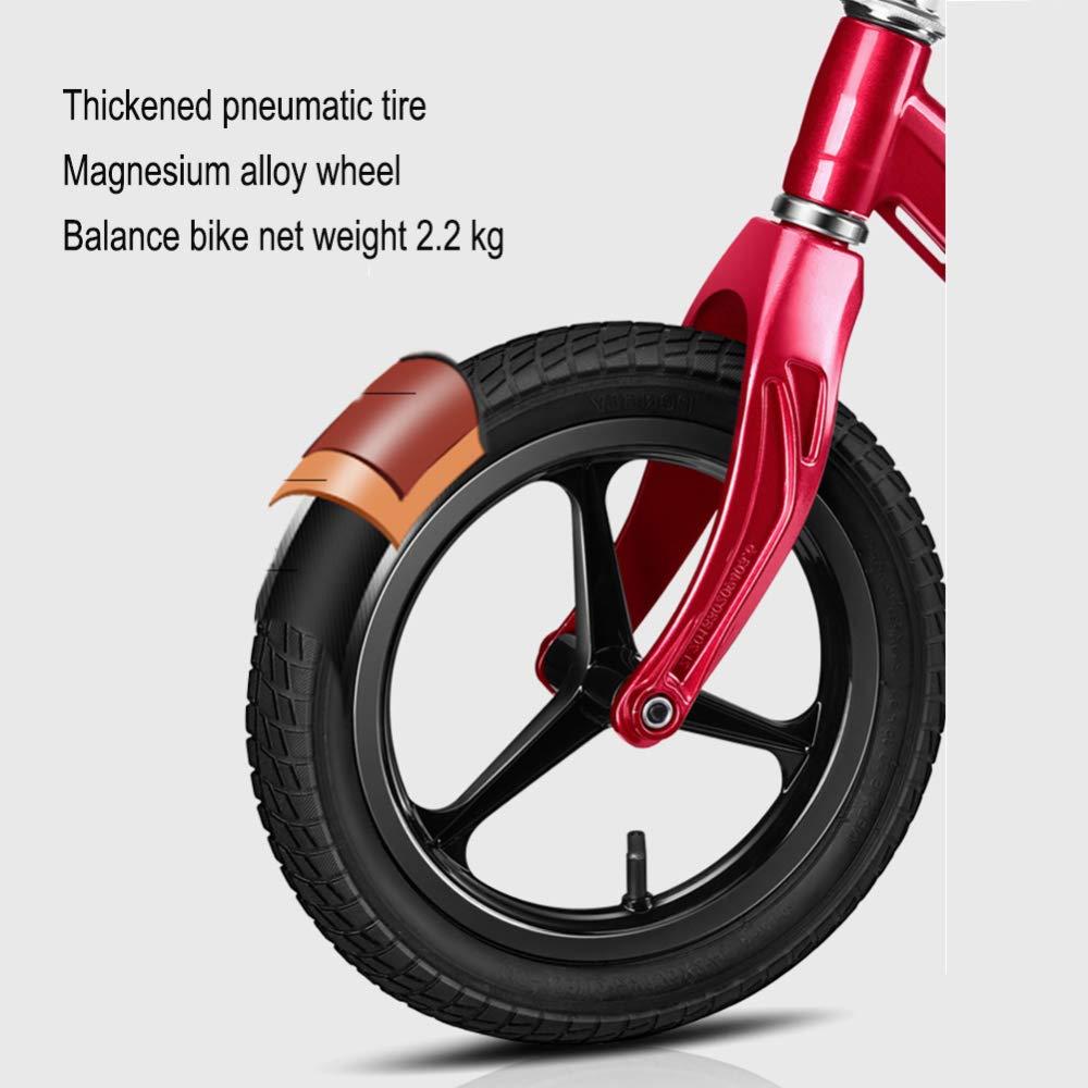 YSH Sport Laufrad, Walker Scooter Sport YSH Magnesiumlegierung, Pneumatisches Rad/Eva-Softrad, Ultraleichtgewicht 2,2 Kg, 2-6 Jahre, 80-120 cm,A a83e66