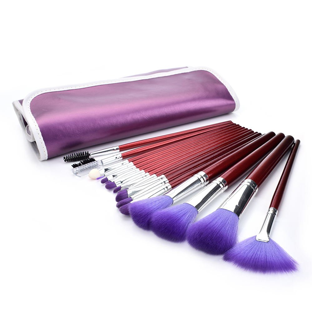 Professional Cosmetic Brush Set 16Piece Makeup Brush Set with Premium Synthetic Hair Wooden Handle Cosmetic Makeup Brush kit