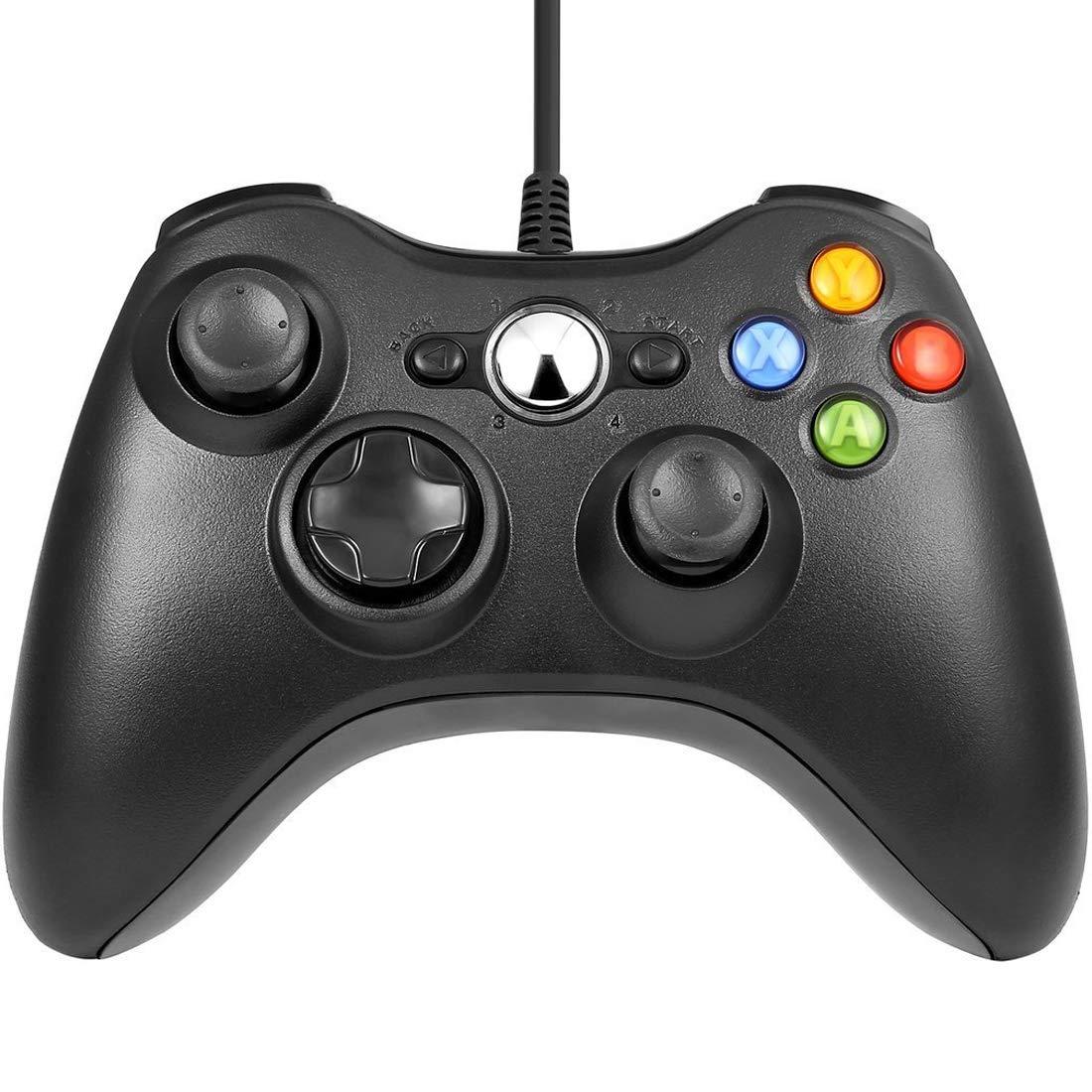 Schwarz Wired USB Game Pad Controller Gamepad Joystick fü r Microsoft Xbox 360 PC Schwarz NoyoKere LAIFC0357