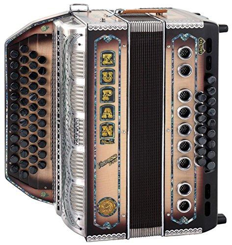 Zupan Vanessa S72 Harmonika (G-C-F-B, Knopfakkordeon, Steirische, Gurt, Koffer) Natur matt