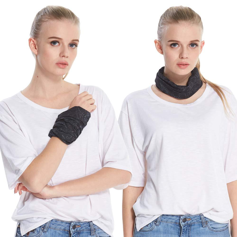 Headbands Sweat Wicking Headwear Head Wrap Neck Warmer Head Scarf