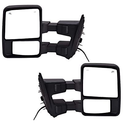DEDC Pair 08-15 Fit for Ford Super Duty F250 F350 F450 Power Heated with Signal Light Towing Mirrors 2008 2009 2010 2011 2012 2013 2014 2015: Toys & Games