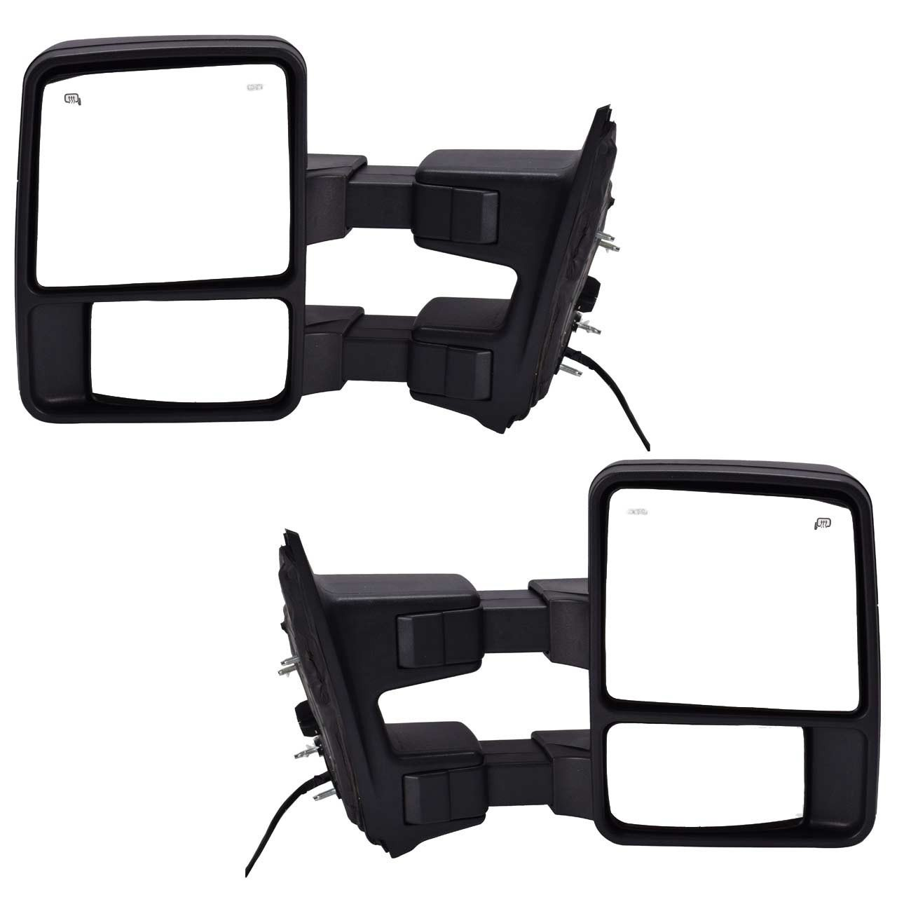 Dedc Pair 08 15 Ford Super Duty F250 F350 F450 Power West Coast Heated Mirror Wiring Diagrams With Signal Light Towing Mirrors 2008 2009 2010 2011 2012 2013 2014 2015 Automotive