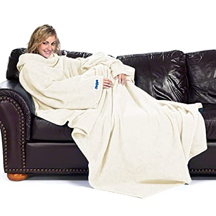 e44dacfadd Image Unavailable. Image not available for. Color  Ultimate Slanket - Cream  Sleeved blanket with Sleeves