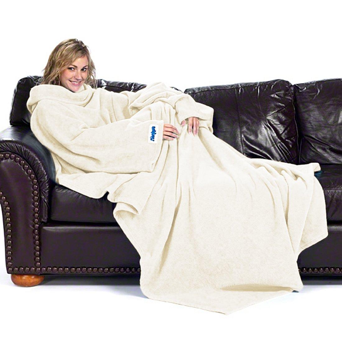 Ultimate Slanket - Cream Sleeved blanket with Sleeves