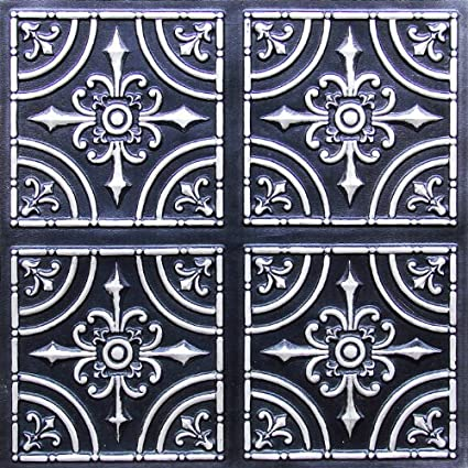 12x12 pattern tin ceiling tiles 2x2 flat 205 antique silver by ceilingtilesbyusinc cheapest - Cheapest Ceiling Material