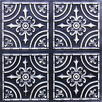 12x12 pattern tin ceiling tiles 2x2 flat 205 antique silver by cheapest