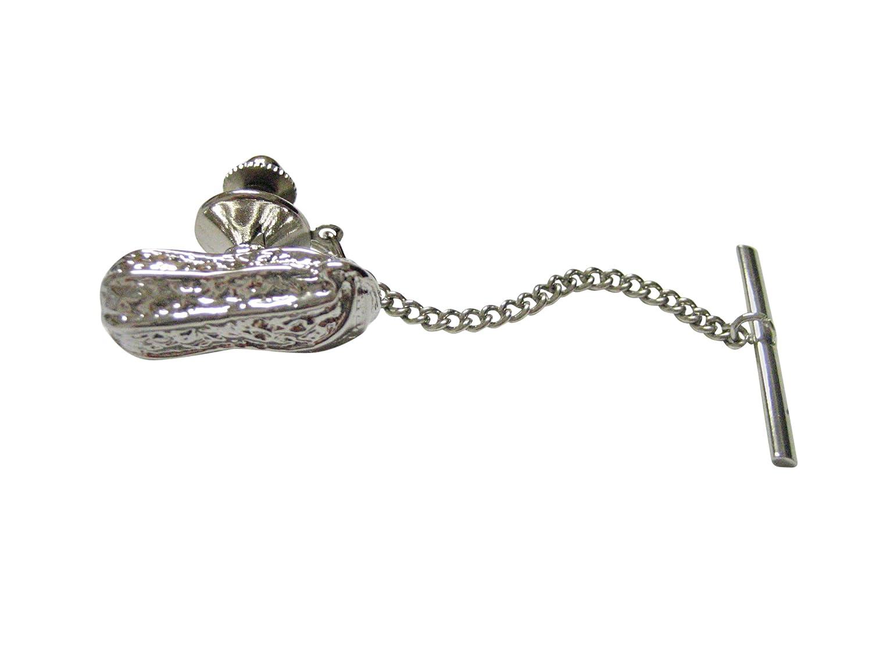 Silver Toned Peanut Tie Tack