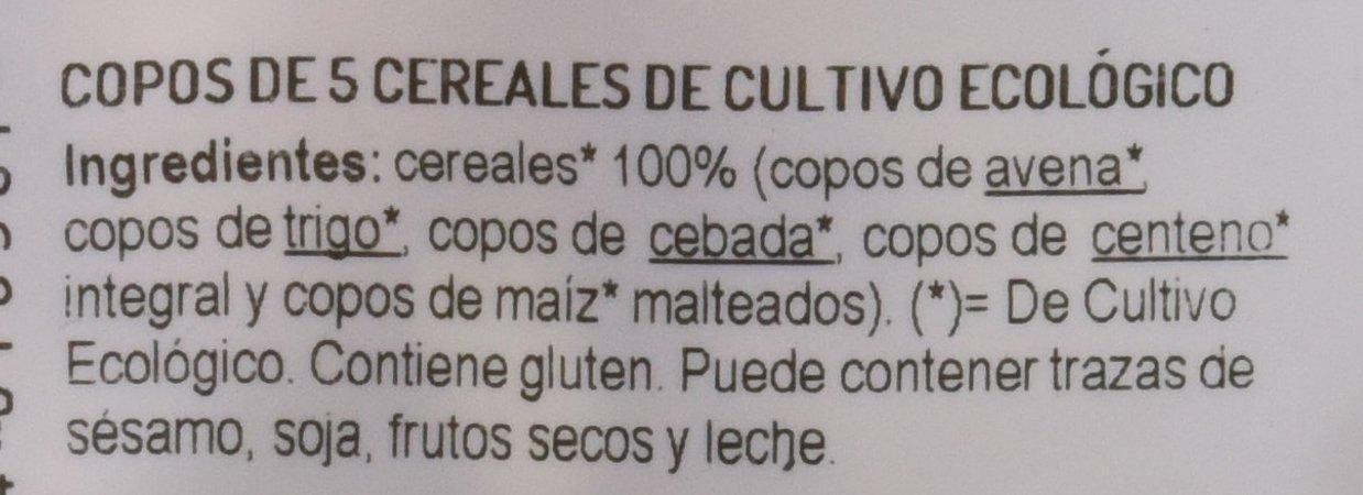 El Granero Integral - Copos 5 Cereales El Granero Integral, 500 g: Amazon.es: Alimentación y bebidas