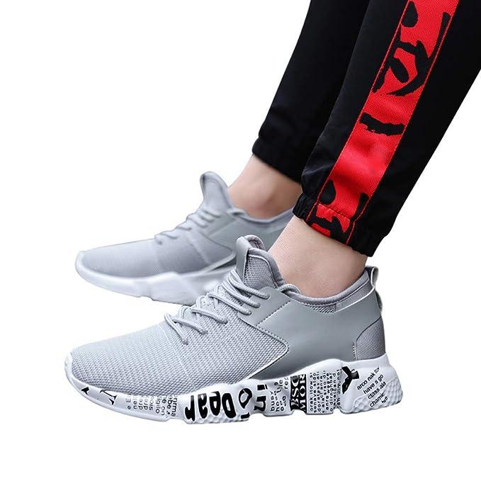 Bestow Suelas cómodas y cómodos para Correr Malla Deportiva Zapatillas de Fondo Plano Calzado Casual: Amazon.es: Ropa y accesorios