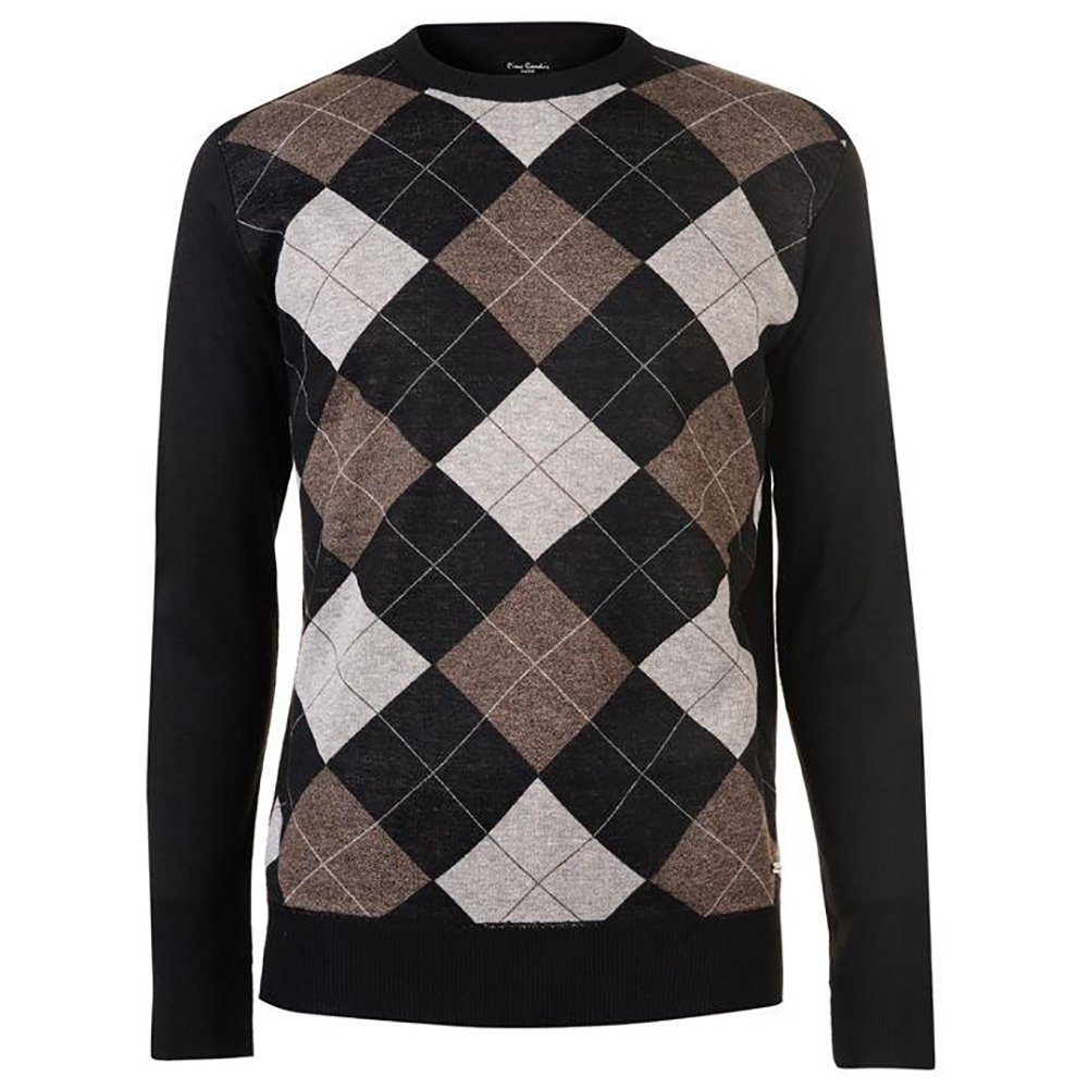 Pierre Cardin Mens New Season Crew and V-Neck Argyle Knitted Jumper