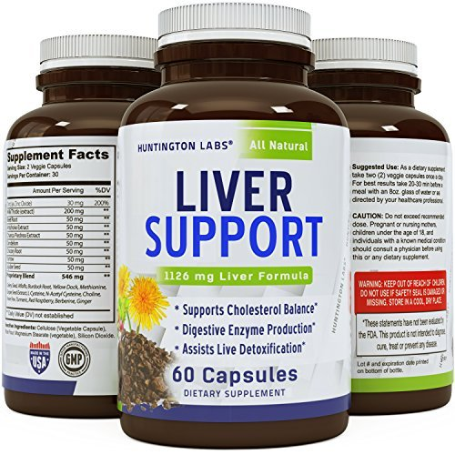 Natural Liver Detox - Solarplast + Pure Milk Thistle Complex - Potent Enzymes for Protein and Fat Digestion - Liver Cleanse Supplement for Men & Women - 60 Veggie Caps - Guaranteed (Best Rated Fast Food Burger)