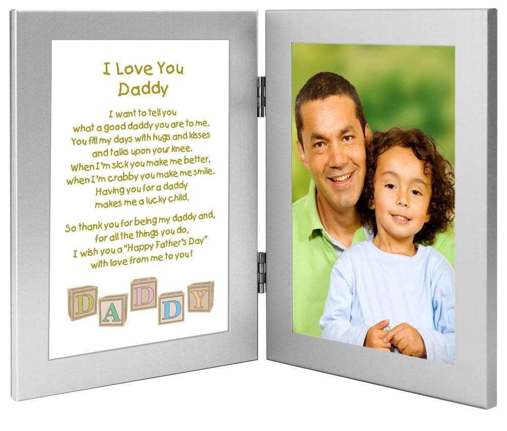 amazoncom daddy fathers day frame gift for daddy from son or daughter poem in double frame add photo everything else