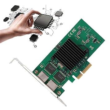 PCI-E X4 Tarjeta de Red Ethernet 1000M de Doble Puerto 2.5GT ...