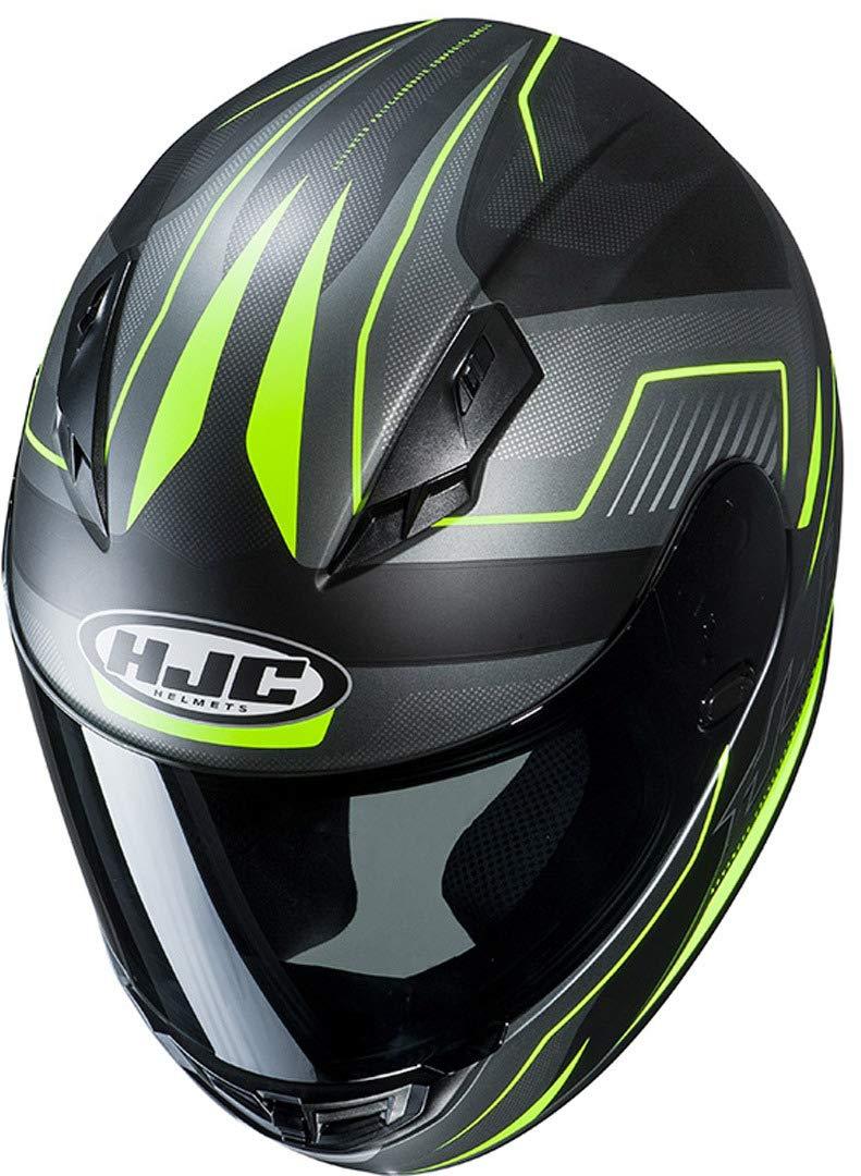 L Schwarz//Grau//Rot Motorradhelm HJC CS 15 TRION MC1SF