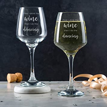 Engraved Wine Glass For Women Funny 21st Birthday Gifts Her 18th Housewarming Amazoncouk Kitchen