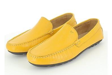 En Mocassin Chaussure Ville Homme Jaune Cuir De qwnAPpF