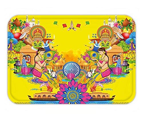 Minicoso Doormat Modern Decor Fan Cooler Logo Fresh Air Propeller Summer Warm Artful Illustration Violet and Baby Blue