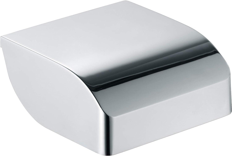 25cm breit f/ür Badezimmer und G/äste-Toilette Edition 400 Wandmontage KEUCO Handtuchring aus Metall Handtuchstange hochglanz-verchromt rund