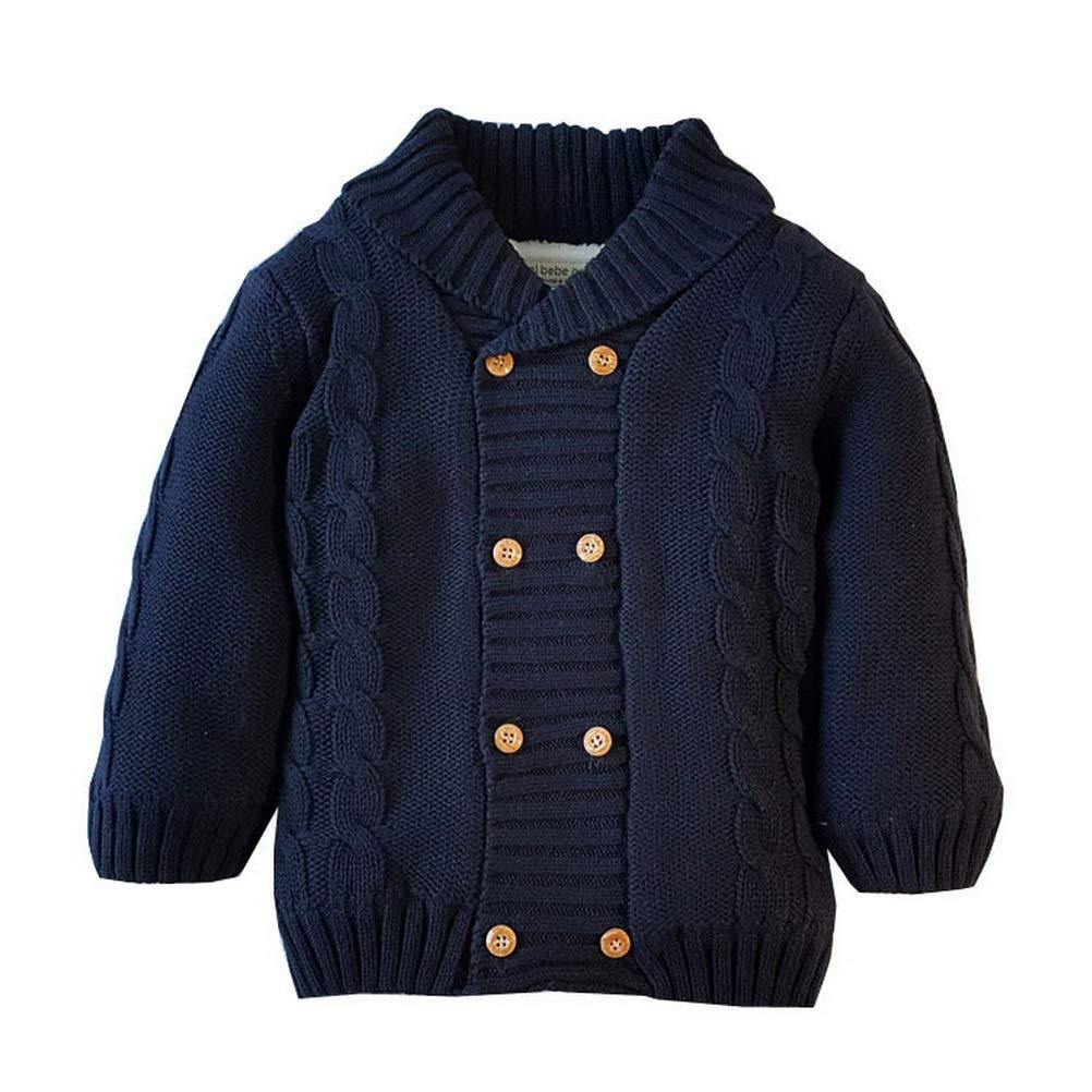 ARAUS Baby Cardigan Coat Fur Lining Double Breasted Sweater Autumn Winter Outerwear Clothes 0-5 Years