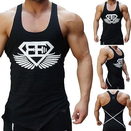92c012103e7411 New Fi Men Gym Muscle Sleeveless Shirt Tank TOP Bodybuilding Sport Fitness  Vest T-Shirt