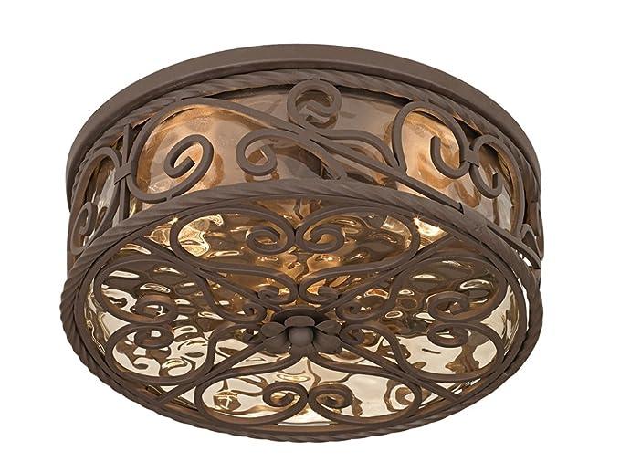 Casa seville 15 wide walnut indoor outdoor ceiling light flush casa seville 15quot wide walnut indoor outdoor ceiling light aloadofball Choice Image