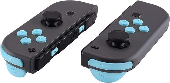 eXtremeRate Botones para Nintendo Switch Botón ABXY Botón de Dirección Botón de Disparador Resorte reemplazo Teclas SR SL L R ZR ZL con Herramientas para JoyCon, No Incluye Carcasa(Azul Esmerilado): Amazon.es: Electrónica