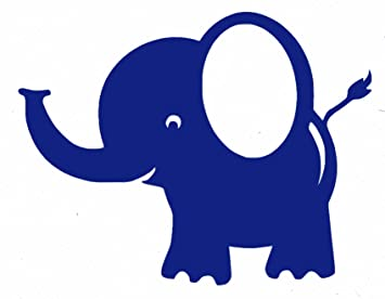Bobee Baby Elephant Wall Decals For Nursery Decor, Kids Room, Royal Blue, 5