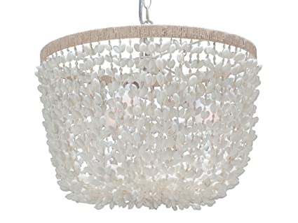 kouboo inverted pendant lamp bubble seashell white ceiling