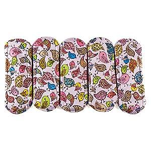 Wegreeco 3 Size Available Bamboo Reusable Sanitary Pads - Cloth Sanitary Pads - Cloth Pads - Pack of 5