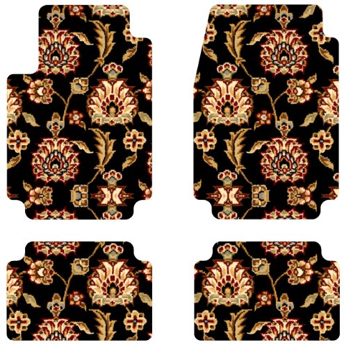 Intro-Tech Oriental Front and Second Row Custom Floor Mats for Select Buick La Crosse Models - Carpet (Black Herati) (Carpet Herati)