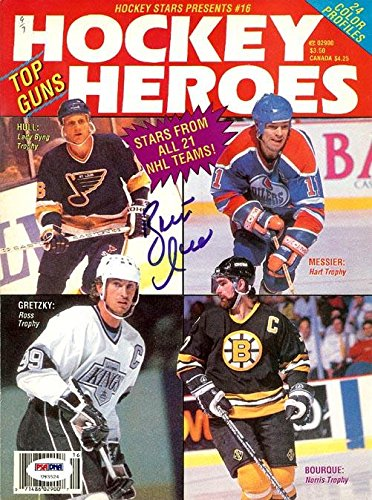 Brett Hull Autographed Hockey Heroes Magazine Cover St. Louis Blues #U93524 PSA/DNA Certified Autographed NHL Magazines