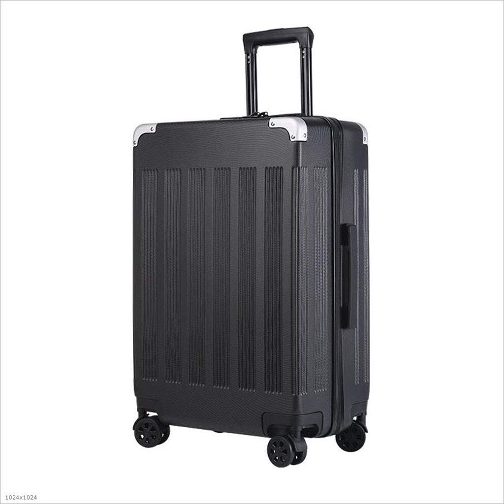 DADDYY 4-車輪付きスーツケース、旅行用キャリーオンスーツケース S ブラック 235-892 B07JVZF76F ブラック Small