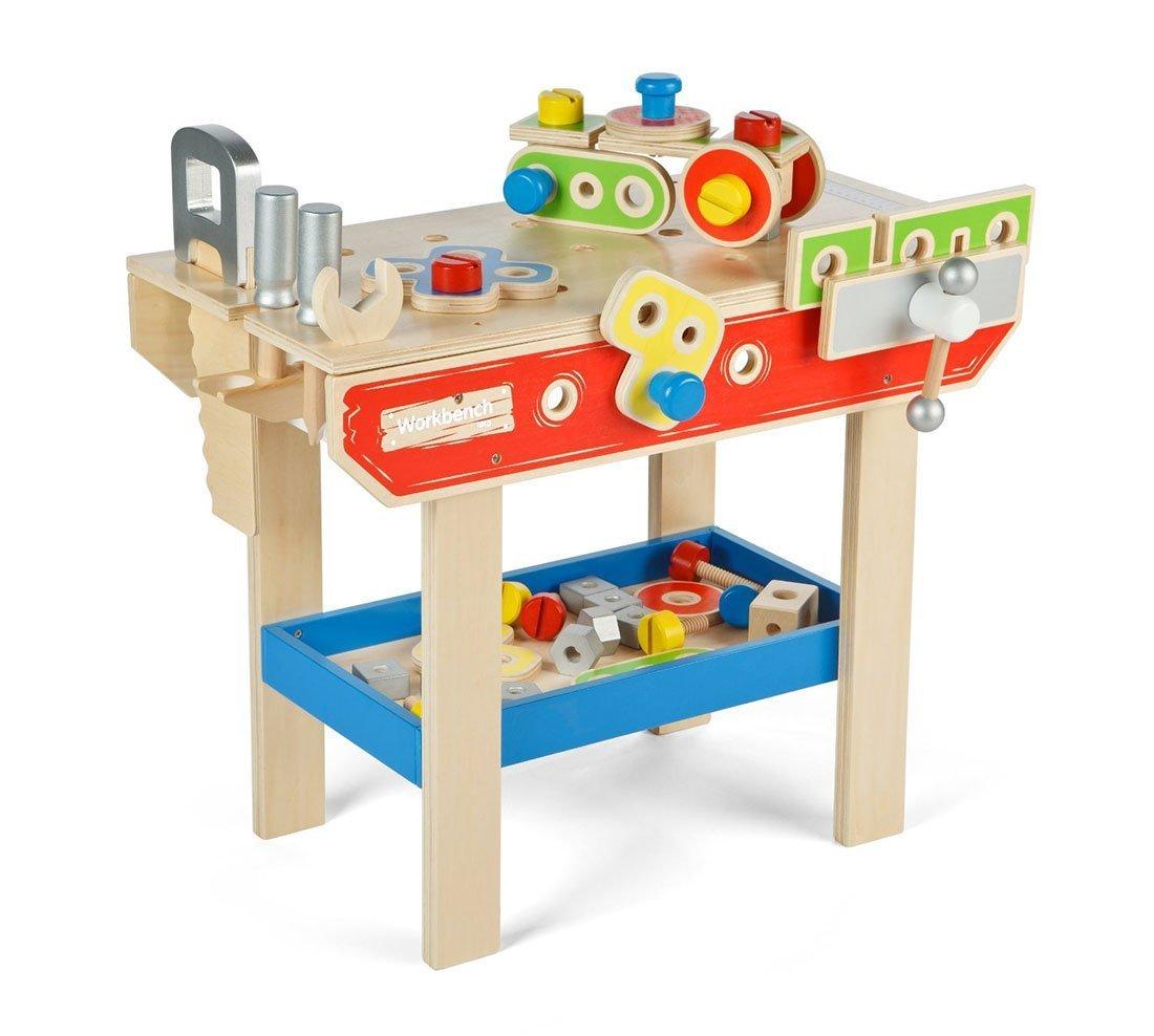 Kinder-Werkbank - Tidlo Werkbank Spielwerkzeug - Holz Werkbank Klein