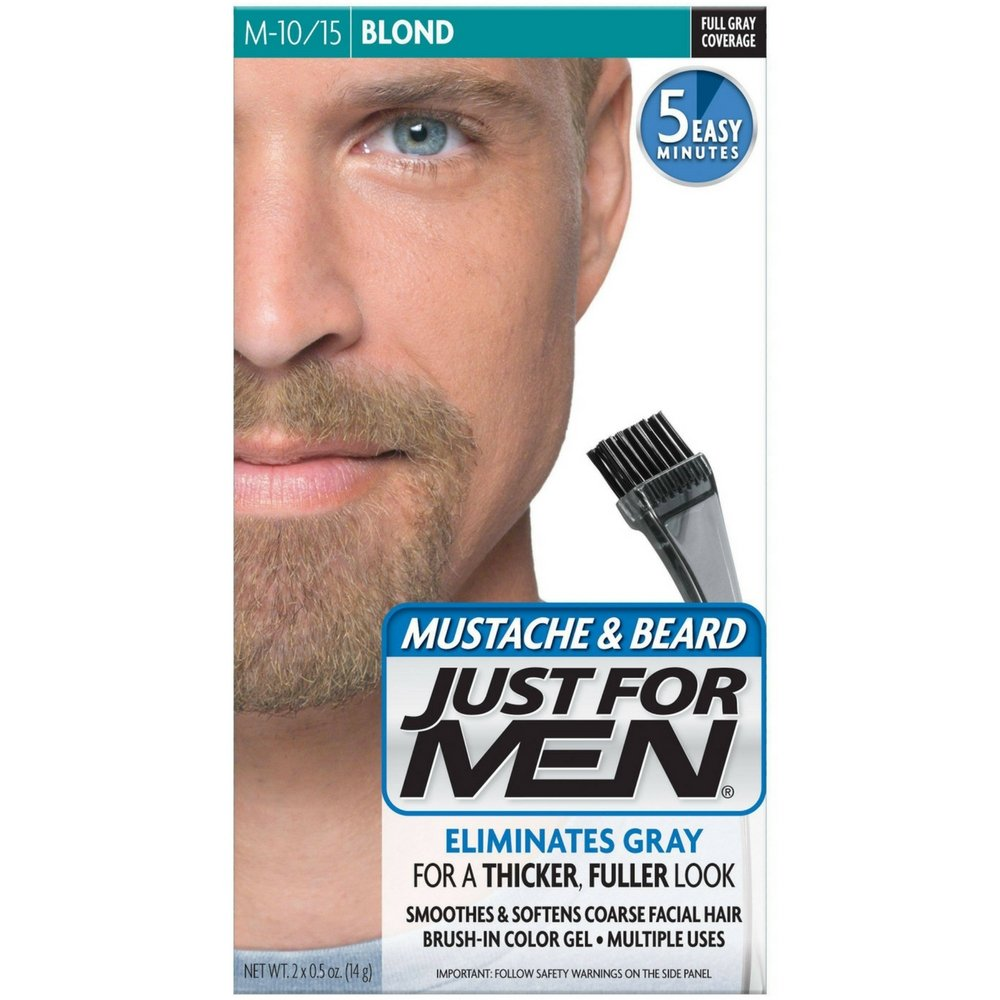 JUST FOR MEN Mustache & Beard Brush-In Color Gel, Blond M-10/15 1 Each (Pack of 2) by Just for Men