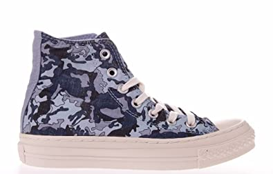 Unisex Chuck Taylor Camo Hi Aspen Blue/Multicolored 138390C Men 12/Women 14