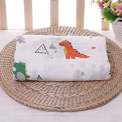 Breathable Baby Wrap MiniSteps Muslin Blanket Baby Shower Gift Eco-Friendly and Hypoallergenic Receiving Blanket Dinosaurs1 Large Muslin Burp Cloth Nursing Cover 100/% ORGANIC Cotton Swaddle Blanket