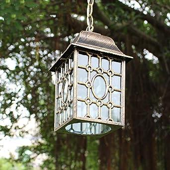 Iluminación colgante Resistente al agua Patio de la lámpara retro ...