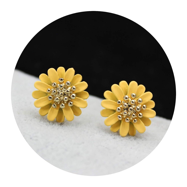 Summer style fashion brand jewelry elegant black earrings for women daisy flower statement for girls
