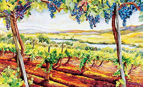 Wine Country Art Fine Lithograph Print (Hilltop Vista) ()