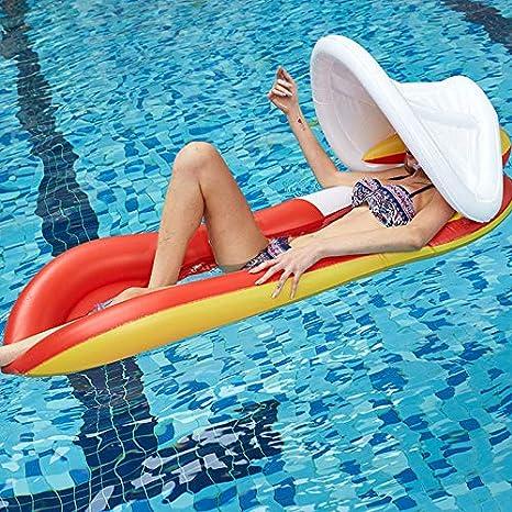 Modaily Piscina Hinchable Flotante con Dosel Hamaca Floating ...