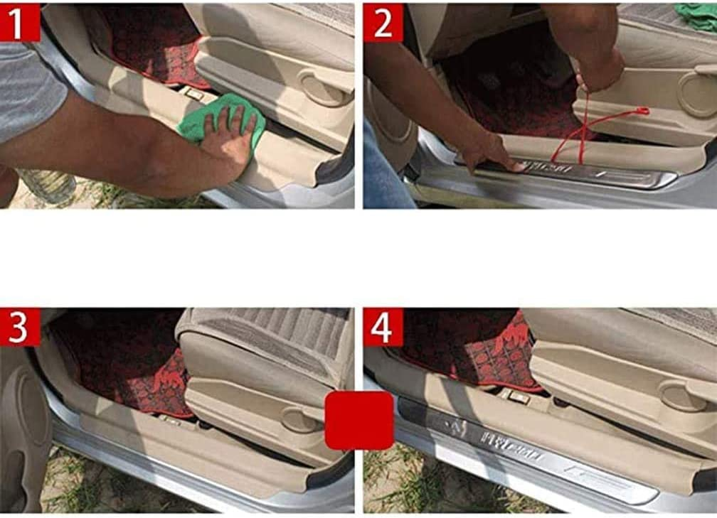for Opel Vauxhall Mokka 2012 2013 2014 Auto Door Sill Scuff Pedal Protection Trim Threshold Cover Anti Scratch Sticker Accessories 4Pcs Car Styling Stainless Steel Kick Plates