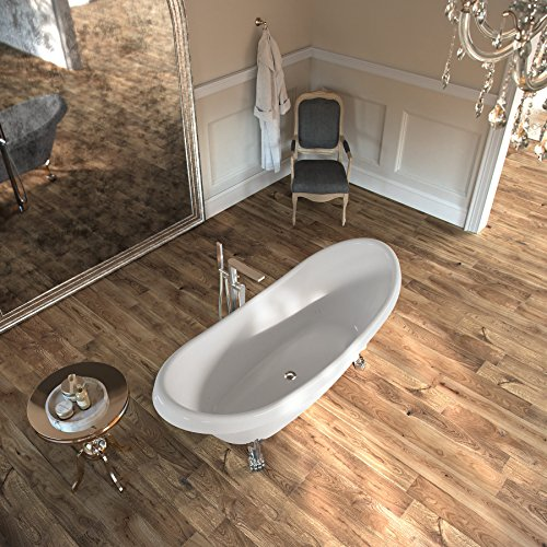 Luxury Vinyl Plank - MAYKKE 47 Sq Ft Restored Pine Vinyl Plank Flooring 48