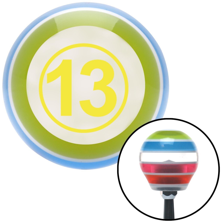 Yellow Ball #13 American Shifter 131285 Stripe Shift Knob with M16 x 1.5 Insert