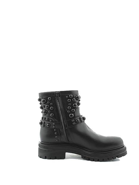 Albano Mujer 8036NERO Negro Cuero Botines: Amazon.es: Zapatos y complementos