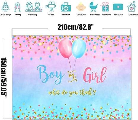 Gender Reveal Background Pink And Blue Gender Reveal Decorations Gender Surprise Banner Baby Shower Photography Background 150 X 210 Cm Spielzeug