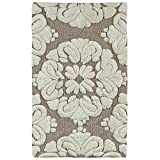 Better Trends / Pan Overseas Medallion 170 GSF 100-Percent Cotton 2-Piece Luxury Tufted Bath Rug Set, 21 by 34/17 by 24-Inch, Beige/Natural